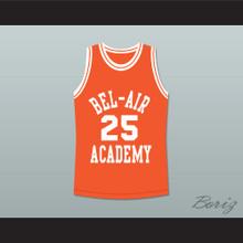 The Fresh Prince of Bel-Air Alfonso Ribeiro Carlton Banks Bel-Air Academy Orange Basketball Jersey