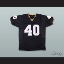 Mike Alstott 40 Purdue Boilermakers Black Football Jersey