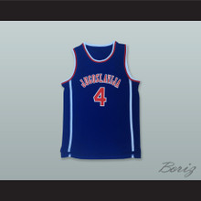 Drazen Petrovic 4 Jugoslavija Blue Basketball Jersey