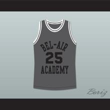 The Fresh Prince of Bel-Air Alfonso Ribeiro Carlton Banks Bel-Air Academy Gray Basketball Jersey