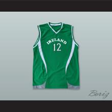 Ireland National Team 12 Green Basketball Jersey
