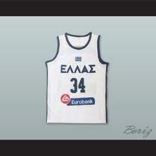 Giannis Antetokounmpo 34 Greece National Team White Basketball Jersey