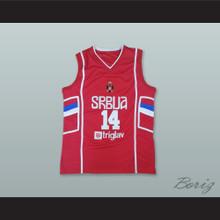 Nikola Jokic 14 Serbia Red Basketball Jersey
