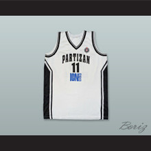 Partizan Belgrade 11 White Basketball Jersey