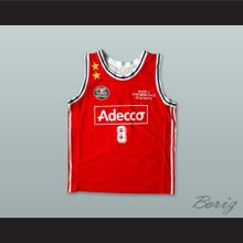 Kobe Bryant 8 Olimpia Milano Red Basketball Jersey