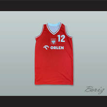 Poland National Team 12 Red Basketball Jersey