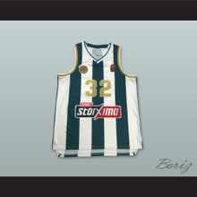 Jimmer Fredette 32 Panathinaikos BC Striped Basketball Jersey