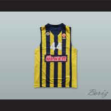 Bojan Bogdanovic 44 Fenerbahce Beko Istanbul Turkey Striped Basketball Jersey