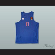 Nikola Milutinov 11 Olympiacos Piraeus Greece Blue Basketball Jersey