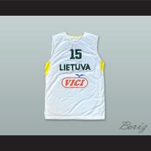 Donatas Tarolis 15 Lietuva Lithuania White Basketball Jersey