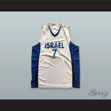 Gal Mekel 7 Israel White Basketball Jersey