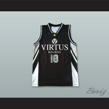 Matjaz Smodis 18 Virtus Bologna Italy Black Basketball Jersey