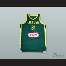 Rokas Giedraitis 31 Lietuva Lithuania Green Basketball Jersey