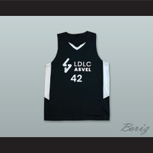 Alexis Ajinca 42 France Black Basketball Jersey