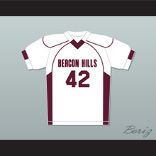 Scott Howard 42 Beacon Hills Cyclones Lacrosse Jersey Teen Wolf White