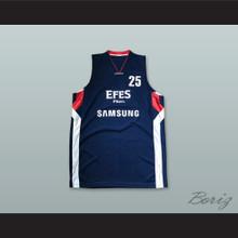 Daniel Santiago 25 Anadolu Efes SK Istanbul Turkey Navy Blue Basketball Jersey