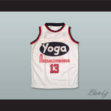 Leon Douglas 13 Fortitudo Bologna White Basketball Jersey