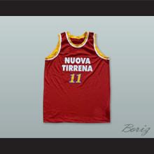 Pallacanestro Virtus Roma 11 Red Basketball Jersey