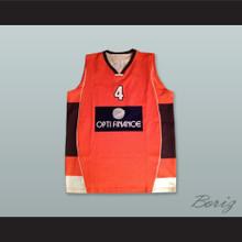 Wright 4 France Orange Basketball Jersey