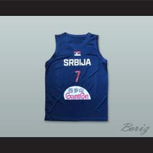 Bogdan Bogdanovic 7 Serbia Navy Blue Basketball Jersey