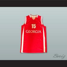Dvalishvili 15 Georgia Red Basketball Jersey