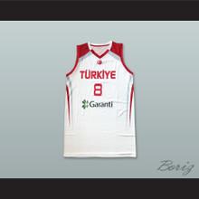 Ersan Ilyasova 8 Turkey White Basketball Jersey