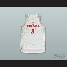 Mateusz Ponitka 9 Polska Poland White Basketball Jersey