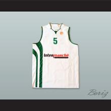 Aaron Cel 5 Polska Poland White Basketball Jersey