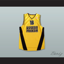 Adam Lapeta 16 Polonia Poland Yellow Basketball Jersey