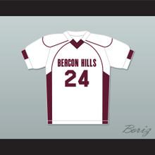 Stiles Stilinski 24 Beacon Hills Cyclones Lacrosse Jersey Teen Wolf White