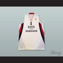 Mario Kasun 4 Anadolu Efes SK Istanbul Turkey Basketball Jersey