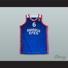 Metecan Birsen 6 Anadolu Efes SK Istanbul Turkey Blue Basketball Jersey