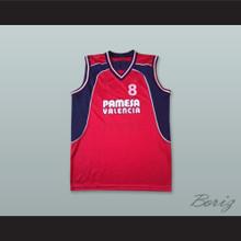 Derrick Alston 8 Pamesa Valencia Red Basketball Jersey