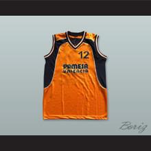 Pat Durham 12 Pamesa Valencia Orange Basketball Jersey