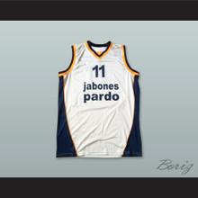 Solana 11 Baloncesto Fuenlabrada White Basketball Jersey