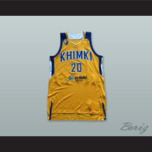 Andrey Zubkov 20 BC Khimki Moscow Russia Yellow Basketball Jersey