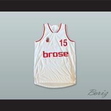 Duncan 15 Brose Bamberg Germany White Basketball Jersey
