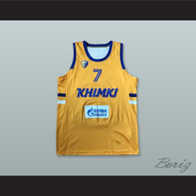Garlon Green 7 BC Khimki Moscow Russia Yellow Basketball Jersey