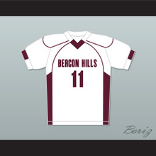 Scott McCall 11 Beacon Hills Cyclones Lacrosse Jersey Teen Wolf White