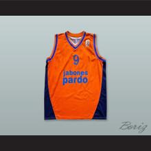 Larragan 9 Baloncesto Fuenlabrada Orange Basketball Jersey