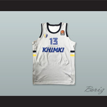 Anthony Gill 13 BC Khimki Moscow Russia White Basketball Jersey