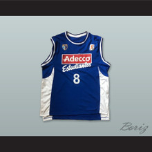 Miso 8 CB Estudiantes Madrid Spain Blue Basketball Jersey