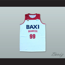 Nikola Dragovic 99 Basquet Manresa Spain White Basketball Jersey