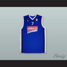 Nikola Loncar 7 CB Estudiantes Madrid Spain Blue Basketball Jersey