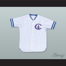 Derek Jeter 24 Columbus Clippers White Pinstriped Baseball Jersey
