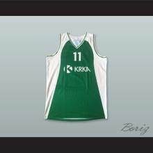 Booker 11 KK Krka Novo Mesto Slovenia Green Basketball Jersey