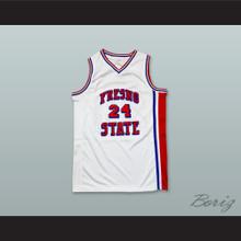 Chris Herren 24 Fresno State Bulldogs White Basketball Jersey