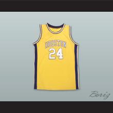 Houston Mavericks 24 Yellow Basketball Jersey
