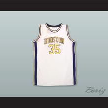 Houston Mavericks 35 White Basketball Jersey