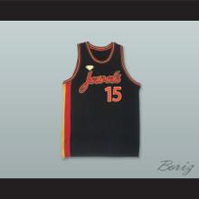 New York Jewels 15 Black Rucker Park Basketball Jersey